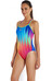 speedo Endurance+ Samba Love Placement Double Crossback Swimsuit Women navy/pyscho/lime